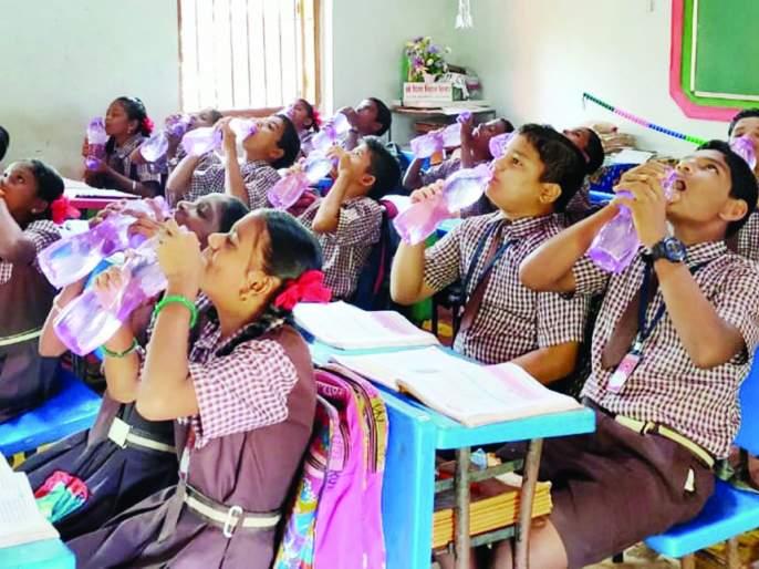 Praise Bharatgaon Cosby School's Herring the Bell for Waterhorn Initiative | भातगाव कोसबी शाळेच्या ह्यरिंग द बेल फॉर वॉटर उपक्रमाचे कौतुक