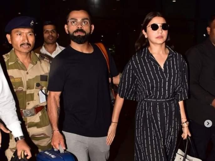 ICC World Cup 2019: Virat-Anushka returns to Mumbai after World Cup defeat, watch video ... | ICC World Cup 2019 : विश्वचषकातील पराभवानंतर विराट-अनुष्का परतले मुंबईत, पाहा व्हिडीओ...