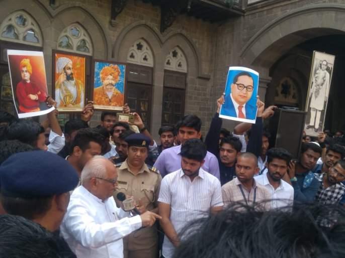 Former Justice B. G. Kolhas Patil reached to Fergusson; students proclaiming | माजी न्यायमूर्ती बी. जी. कोळसे पाटील यांचे फर्ग्युसनच्या आवारातच भाषण