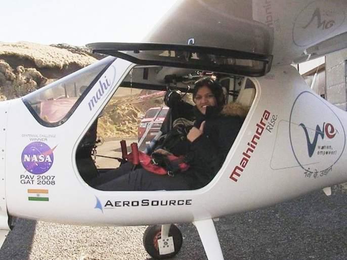 India's Aarohi Pandit is first female to fly solo across Atlantic Ocean in light plane | मुंबईकर आरोहीची शानदार कामगिरी; अटलांटिक महासागर पार करत विक्रमाला गवसणी