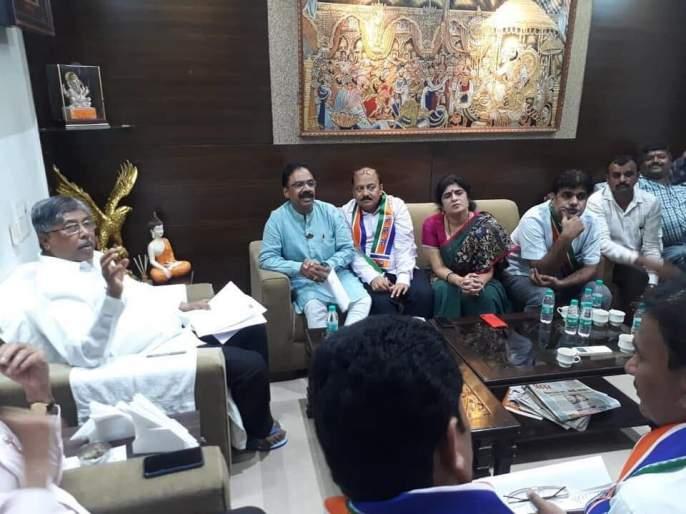 MNS delegation met Chandrakant Patil for drought issue in state | दुष्काळासंदर्भात मनसेच्या शिष्टमंडळाने घेतली चंद्रकांत पाटील यांची भेट