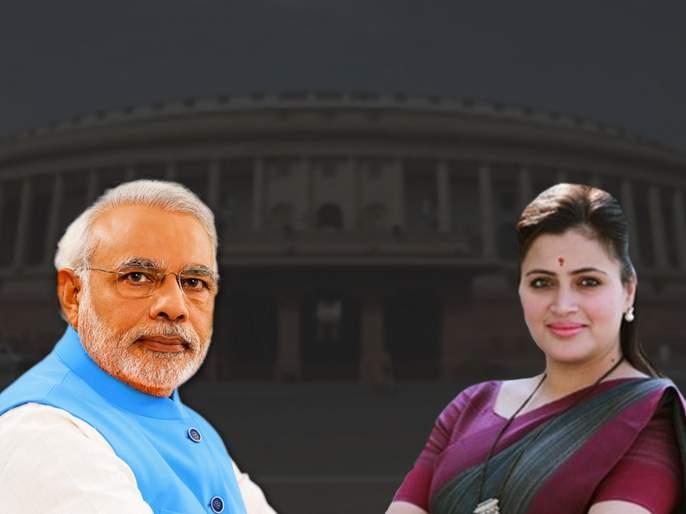 Maharashtra Lok Sabha election results 2019: My competition was not with adsul, its was Modi says Navneet Rana   महाराष्ट्र लोकसभा निवडणूक निकाल 2019: माझी स्पर्धा अडसुळांशी नव्हती, मोदींशी होती! - नवनीत राणा