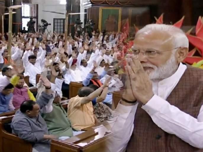 NDA elects Narendra Modi as its leader, at the NDA Parliamentary meeting. | Video: NDAच्या नेतेपदी नरेंद्र मोदी, पंतप्रधानपदासाठीही ३५३ खासदारांचा एकमुखी पाठिंबा