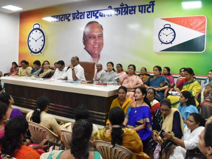 Sharad Pawar speech on NCP Women wing meeting in Mumbai | अर्जुनाच्या 'लक्ष्या' प्रमाणे विधानसभा निवडणुकीत काम करा - शरद पवार