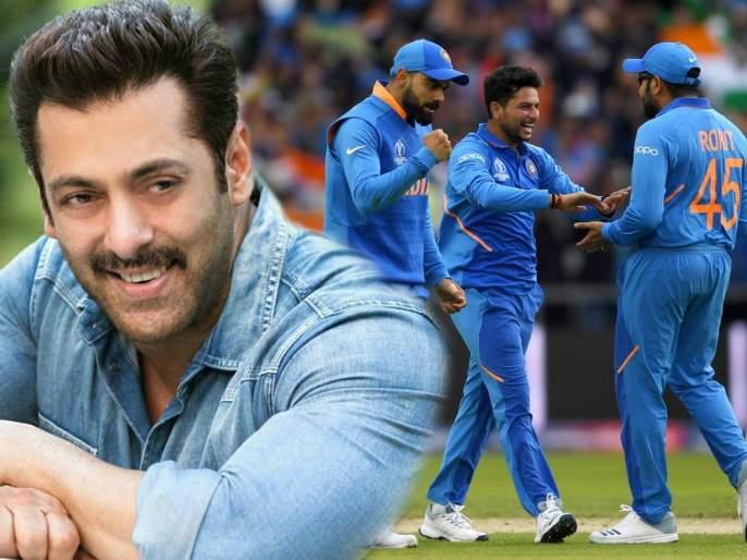 Bollywood celebrities congratulate team india for win over pakistan in world cup match | पडद्यावरील 'भारत'ने केले टीम इंडियाचे हटके कौतुक, भाईजानचे ट्विट सोशल मीडियावर व्हायरल
