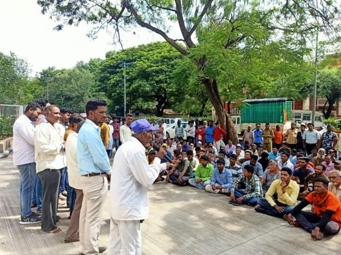 agitation against metro | मेट्राेच्या विराेधात कामगार पुतळा वसाहतीतील नागरिकांचे आंदाेलन