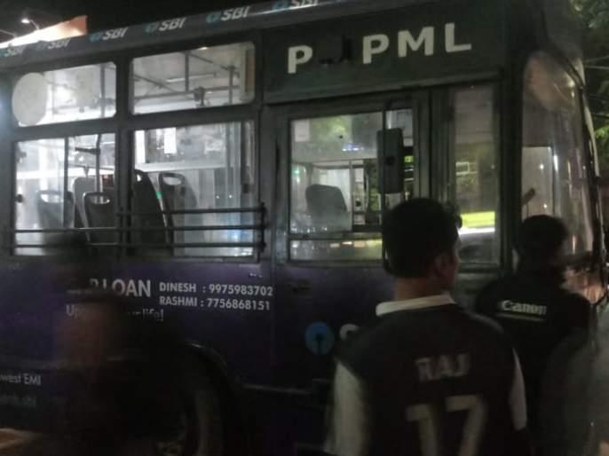PMP hits man who crossing the road at Dnyaneshwar Chowk in Pune | रस्ता क्रॉस करणाऱ्या व्यक्तीला पीएमपीने उडवले; ज्ञानेश्वर चौकातील घटना
