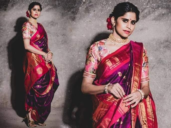 Sai tamhankar looks gorgeous in saree | बोल्डचे सईचे नववारीतही खुललं सोज्वळ सौंदर्य, फोटो पाहून पुन्हा पडाल तिच्या प्रेमात