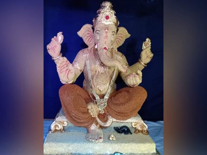 Ganesh Festival 2019 Grains Used To Make Ganesha Idol in bhandup | Ganesh Festival 2019 : भांडुपमध्ये धान्यांपासून साकारला गणराया