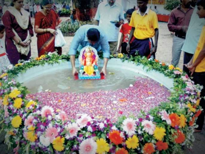 Ganesh Festival 2019 Immersion of idols must be done in artificial ponds | Ganesh Festival 2019 : मूर्ती विसर्जन पर्यायी कुंडांमध्येच करायला हवे!