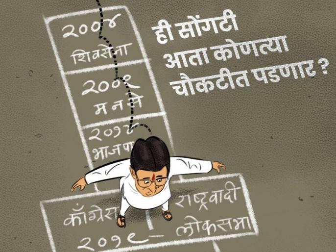 MNS reply on BJP's 'cartoon' of raj Thackeray; devendra fadanvis target   Vidhan Sabha 2019: ...अन् थापाड्यांचे पाय लटलटले! भाजपाच्या 'कार्टुन'वर मनसेचे प्रत्युत्तर