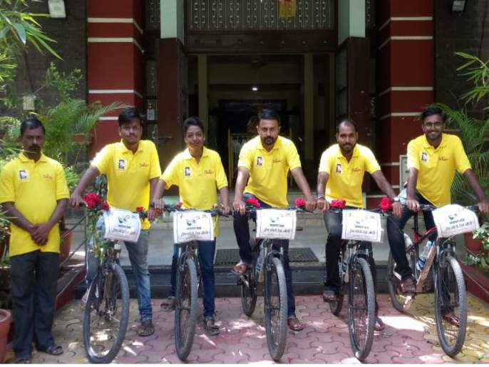 for spreading message of peace youth had a cycle rally from nagpur to pune | ''द्वेष छोडो देश जोडो'' म्हणत तरुणांची नागपूर ते पुणे सायकल यात्रा