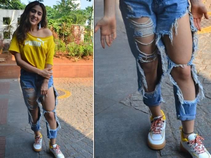 Sara Ali Khan wore Spcial Denim Jeans which Attracted Everyone, know What Is The Price | सारा अली खानने परिधान केलेल्या 'या' जीन्सची किंमत वाचून व्हाल थक्क, वाचा सविस्तर
