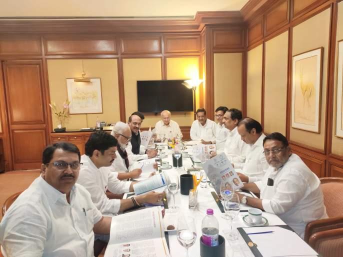 Ajit Pawar made an effort; Congress-NCP meeting begins as scheduled | महाराष्ट्र निवडणूक 2019: अजित पवारांनी चेष्टाच केली; काँग्रेस-राष्ट्रवादीची बैठक ठरल्याप्रमाणेच सुरू