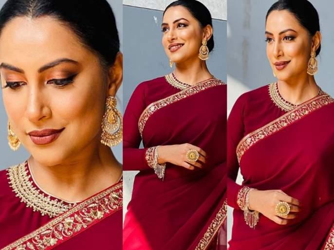 Actress Kranti Redkar looks More Beautiful In Red Colour Saree | लाल रंगाच्या साडीत खुललं क्रांती रेडकरचे सौंदर्य, लवकरच देणार 'गुड न्यूज'