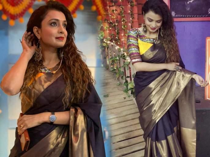 Mayuri deshmukh share her saree photo's on instagram | काळ्या रंगाच्या साडीतले या मराठी अभिनेत्रीचे फोटो एकदा पाहाच!
