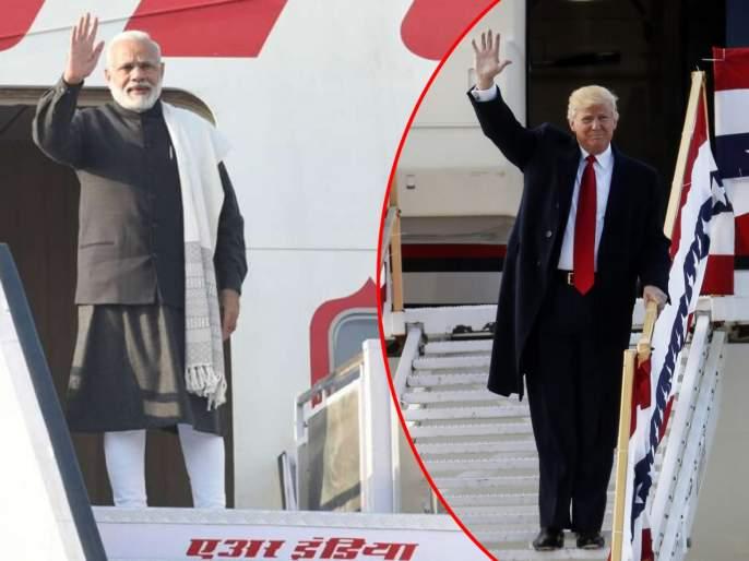 Donald Trump's India Visit know the differences between donald trumps air force one and narendra modis air india one   Donald Trump's India Visit : डोनाल्ड ट्रम्प आणि पंतप्रधान मोदींच्या विमानात 'हा' आहे फरक