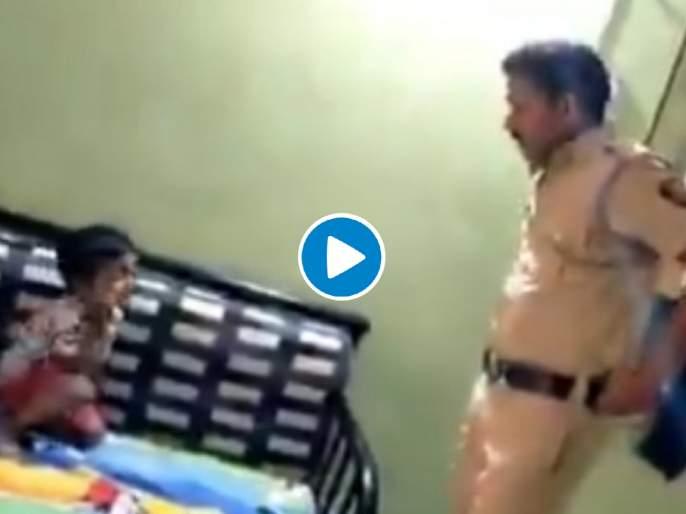 Coronavirus: Corona Outside pappa, don't go! Maharashtra Police's child telling hrb | Video: बाहेर कोरोना आहे पप्पा...! पोलिसाच्या चिमुकल्याची विनवणी पाहून डोळ्यात अश्रू तरळतील