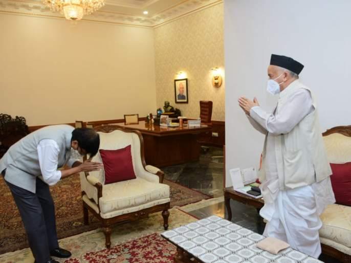 Shiv sena Leader Sanjay Raut meet Governor Bhagat Singh Koshyari BKP | संजय राऊत यांनी घेतली राज्यपाल भगत सिंह कोश्यारी यांची भेट, भेटीनंतर म्हणाले...