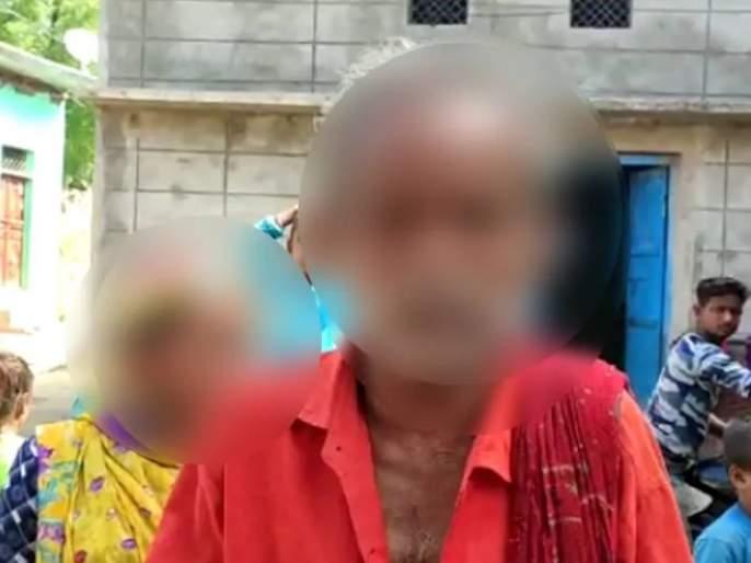 Viral video couple wearing garland of shoes social media jhansi up myb | बापरे! प्रेमविवाह करणं चागलंच अंगाशी आलं; नातेवाईकांनी भर रस्त्यात 'असं' काही केलं....