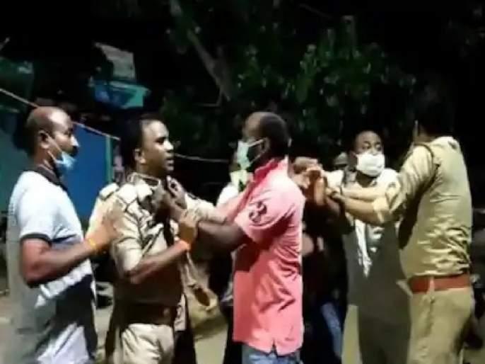 varanasi bjp leaders and sons beat up constables poking for masks   संतापजनक! मास्क न लावण्यावरून झाला वाद, भाजप नेत्याची पोलिसांना मारहाण