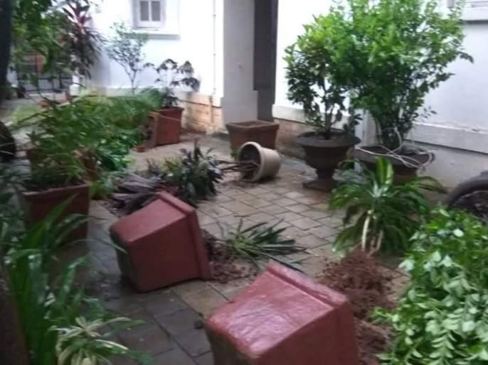 Dr.Babasaheb Ambedkar's residence Rajgruh was vandalized by unknown persons | डॉ. बाबासाहेब आंबेडकर यांचे निवासस्थान असलेल्या राजगृहाची अज्ञातांकडूनतोडफोड
