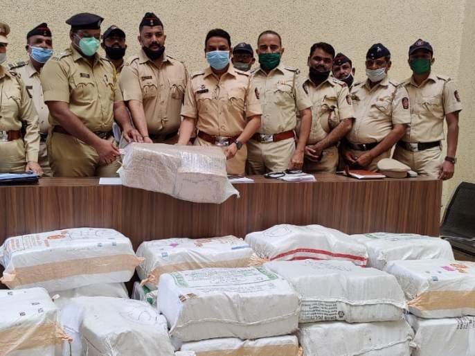 There were crores of ganja in the corn husk, a big action of Thane police | बापरे! मक्याच्याकणसाआड होताकोटींचागांजा, ठाणे पोलिसांची मोठी कारवाई