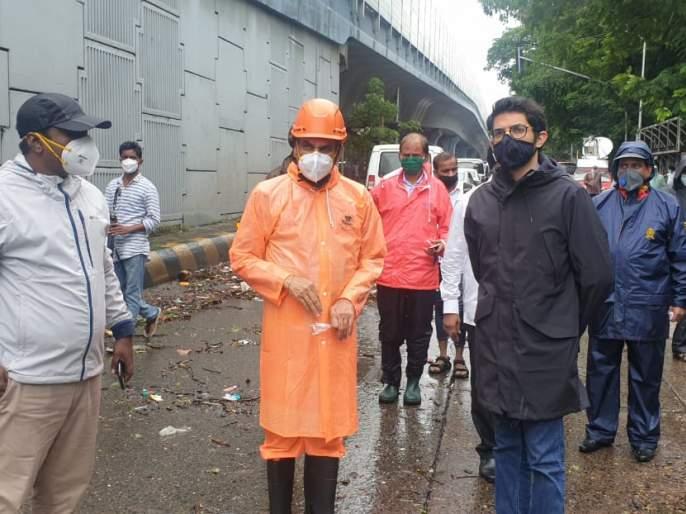 Mumbai Rain Update: Aditya Thackeray reviews rain situation in Mumbai | Mumbai Rain Update : मुंबईतील पावसाच्या परिस्थितीचा आदित्य ठाकरेंनी घेतला आढावा