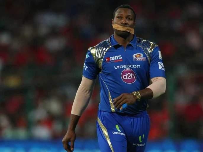 So that's when Kieron pollard put the tape on his Mouth on the field In IPL Match Between MI & RCB | म्हणून तेव्हा पोलार्डने भर मैदानात तोंडावर लावली होती टेप, हे होते कारण
