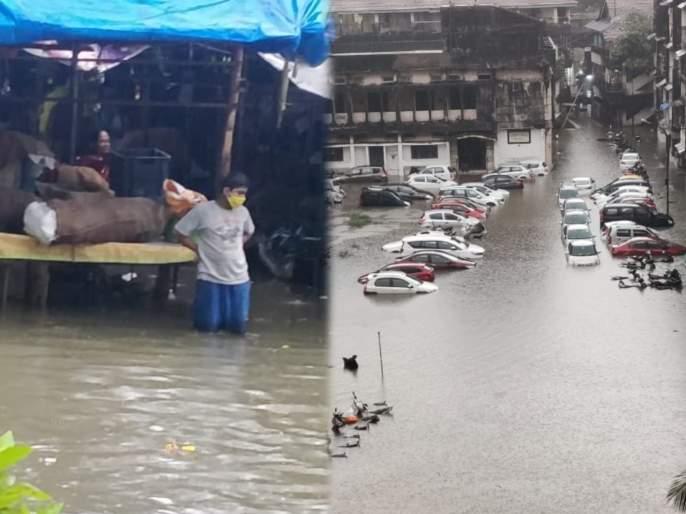 Mumbai rains is trending on twitter people are sharing video and pics of horrible rain | कोसळधारेने मुंबईची तुंबई; अनेक भागांध्ये साचले पाणी, पाहा व्हिडीओ