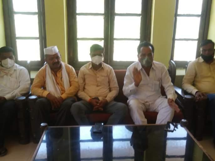 Opposition to the merger of Khultabad Bazar Samiti   खुलताबाद बाजार समितीच्या विलिनीकरणास विरोध