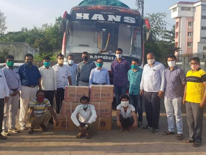 Gutka worth Rs 2 lakh seized from Travels | ट्रँव्हल्समधून जाणारा पावणे दोन लाख रूपयांचा गुटखा जप्त