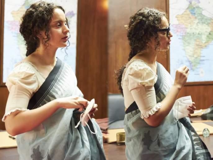 Kangana ranaut shares some stills fro thalaivi set   थलायवीच्या सेटवरचे कंगना राणौतचे फोटो आले समोर, दिवंगत मुख्यमंत्री जयललितांच्या गेटअपमध्ये दिसली अभिनेत्री