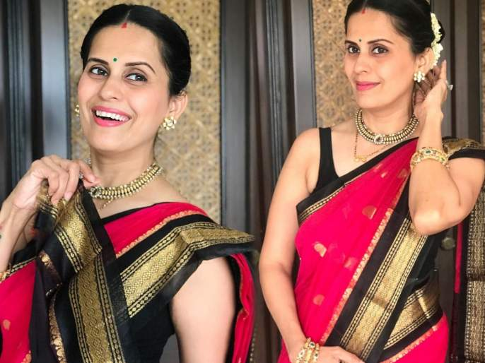 Actress sonali khare looks stunting in saree photoshoot | मराठमोळी अभिनेत्री सोनाली खरेच्या साडीतील फोटोशूटमध्ये दिसल्या दिलखेच अदा, चाहते झाले फिदा