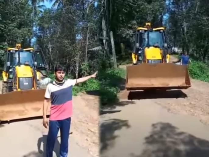 kerala man demolishes neighbour shop with jcb upset with stalling marriage proposals | लग्नात अडथळा आणणाऱ्या शेजाऱ्याची दुकानं संतप्त तरुणाने जेसीबीने केली जमीनदोस्त