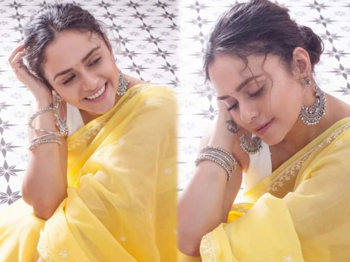 Amrita khanvilkar looks just as beautiful without makeup look | विना मेकअप लूकमध्येही अमृता खानविलकर दिसते तितकीच सुंदर, फोटोवर खिळल्या साऱ्यांच्या नजरा