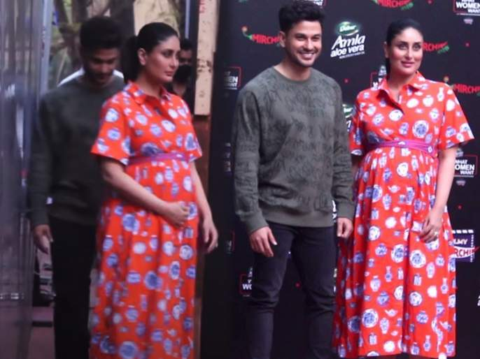 kareena kapoor khan spotted with kunal kemmu in an event   VIDEO : कुणाल खेमूसोबत कॅज्युअल लूकमध्ये स्पॉट झाली करिना कपूर, दिसली स्टायलिश अंदाजात
