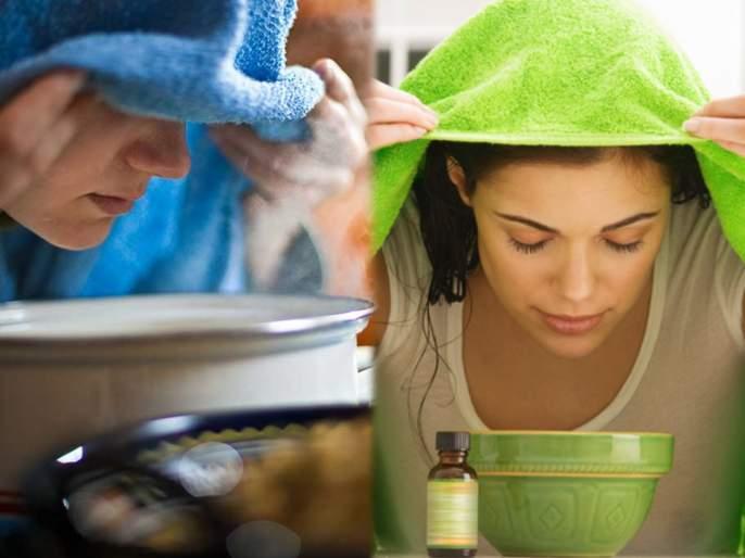 Winter health tips benefits of hot water steam on your face   थंडीच्या दिवसात तोंडावर वाफ घेण्याचे 'हे' फायदे वाचाल; तर त्वचेसह आरोग्याच्या तक्रारी कायमच्या विसराल