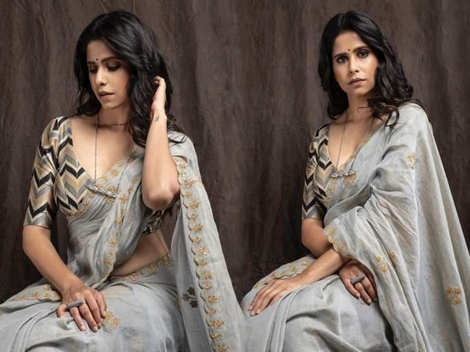 Sai tamhankar shared the photo of the saree photo | सई ताम्हणकरने साडीतील शेअर केले फोटो, म्हणाली - साडी आणि सोज्वळतेसोबत