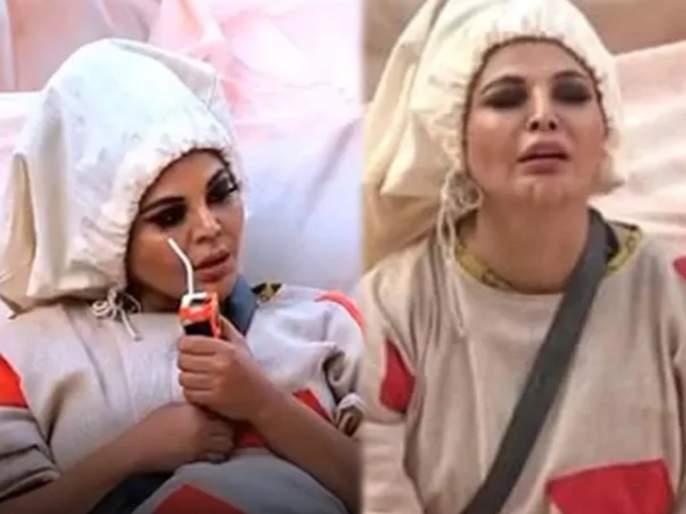 Rakhi Sawant Did Urine In Her Pant During the task And Requested To Rubina Dilaik Not To Share It With Anyone   टास्क दरम्यानच कंट्रोल करु शकली नाही राखी सावंत, पँटमध्येच केली लघुशंका