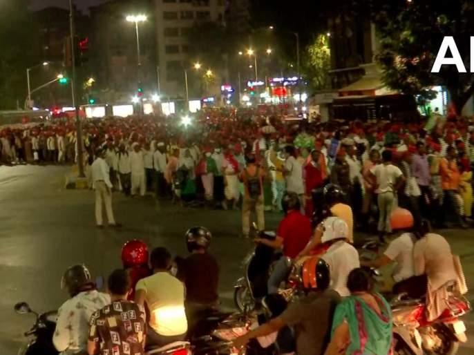 Farmers march in Mumbai, opposition to agricultural laws intensified | शेतकऱ्यांचा मोर्चा मुंबईत दाखल, कृषी कायद्यांना विरोध तीव्र