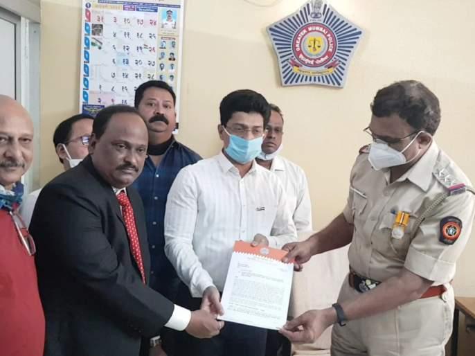 MNS lodges complaint against Energy Minister Nitin Raut at Shivaji Park Police Station | ऊर्जा मंत्री नितीन राऊतांविरोधात मनसेची शिवाजी पार्क पोलीस ठाण्याततक्रार