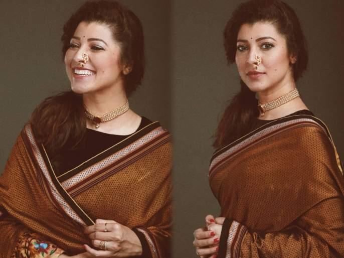 Image result for Tejaswini Pandit in saree