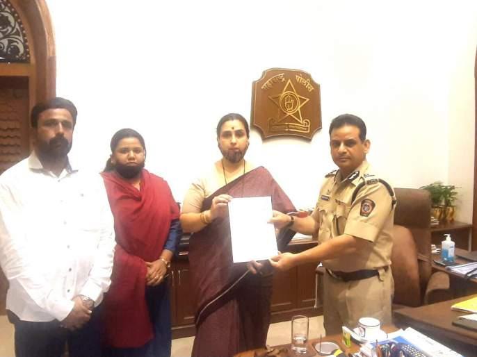 Pooja Chavan Suicide: Take action against Minister Sanjay Rathod; Statement given by Chitra Wagh to DGP | Pooja Chavan Suicide: मंत्री संजय राठोड यांच्यावर कारवाई करा; चित्रावाघ यांचे डीजीपींना निवेदन