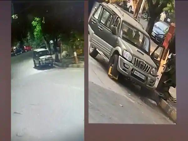 The accused was sitting in the car for 2 hours; Fight not to appear on CCTV   २ तास गाडीतच बसून होता आरोपी; सीसीटीव्हीत न दिसण्यासाठी लढवली 'ही' शक्कल