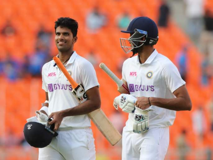 IND vs ENG, 4th : unfortunate end for Washington Sundar, India has been all-out for 365 runs in first innings   IND vs ENG, 4th : वॉशिंग्टन सुंदरला शतकाच्या उंबरठ्यावरच समाधान, तळाचे तीन फलंदाज झटपट बाद