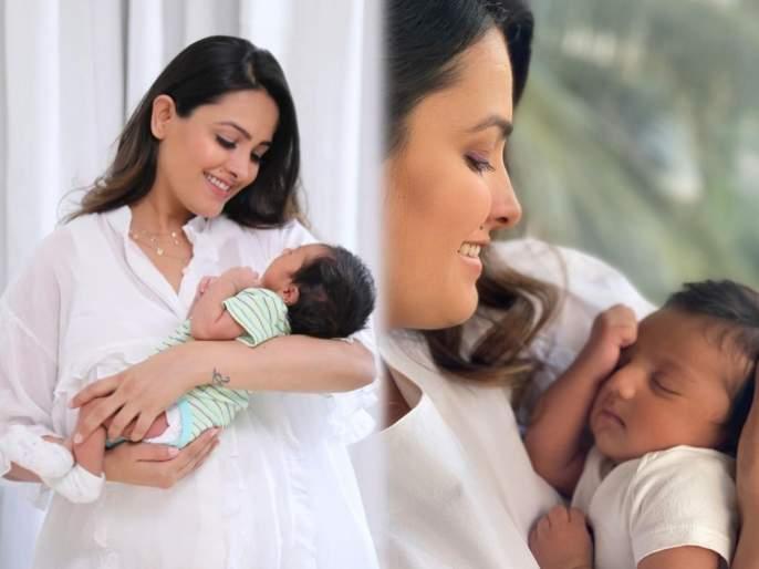 Not kareena kapoor Anushka Sharma's tv Anita Hassanandani New Born Baby Caught Everyone Attention   करिना अनुष्काच्या नाही तर 'या' अभिनेत्रीच्या बाळाच्या फोटोने वेधून घेतले जास्तीत जास्त चाहत्यांचे लक्ष