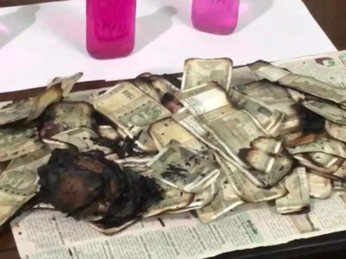 burn currency notes worth rupees 5 lakh gas bribe money tehsildar telangana | बाबो! लाच प्रकरणी पकडले जाण्याच्या भीतीने 'त्याने' चक्क गॅसवर जाळल्या 5 लाखांच्या नोटा अन्...