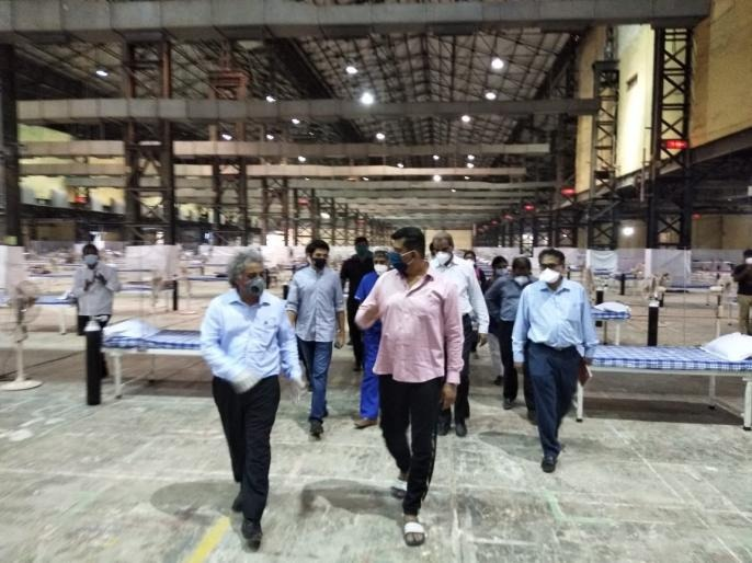 "Nesco will provide 1500 beds and machines from the MLA fund for Covid Center says Subhash Desai | Coronavirus Mumbai Updates : ""नेस्को संकुलात आणखी 1500 खाटांची सुविधा, कोविड सेंटरसाठी आमदार निधीतून मशिन्स देणार"""