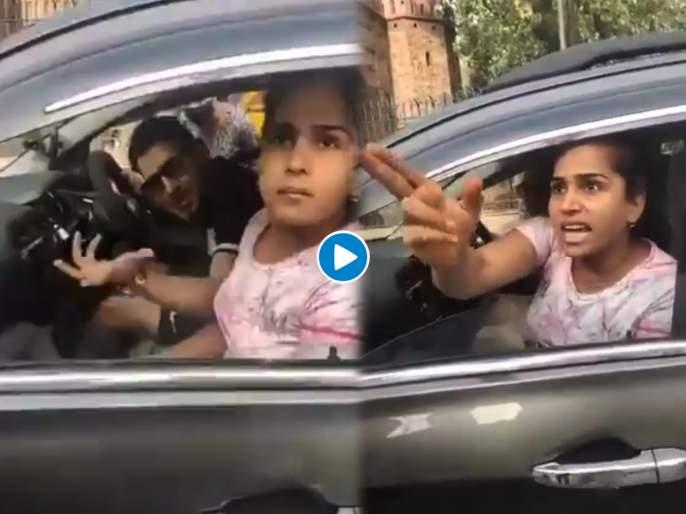 Trending Viral Video: Delhi daryaganj ias gives reaction on couple misbehaved with police personnel see viral video | Couple misbehaved with police 'औकात में, शरम नही आती तुम्हे,'; मास्क लावला नव्हता अन् पती पत्नीनं पोलिसांशी हुज्जत घातली, मग......